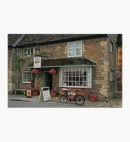 Lacock Village Bakery Photographic Print