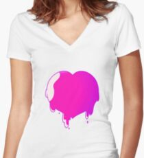 goop heart Women's Fitted V-Neck T-Shirt