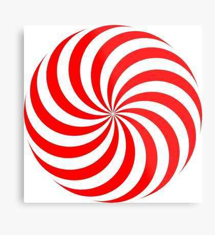NDVH Circle Two - red Metal Print