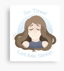 Tired baby Canvas Print
