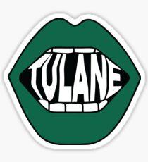 Tulane Lips Sticker
