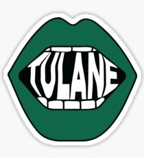 Tulane Lips Sticker