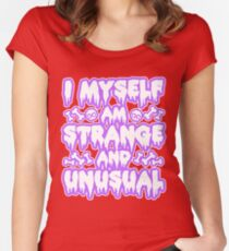 Strange and Unusual - Pastel Goth Women's Fitted Scoop T-Shirt