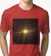 Spiraling Sunburst | Fractal Art Tri-blend T-Shirt
