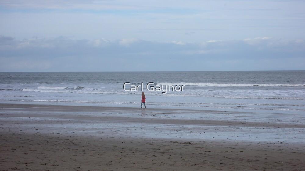 Girl by the Sea - North East Coast -  by Carl Gaynor