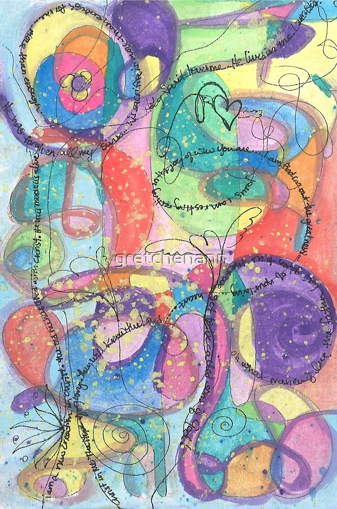 Im A New Creation Abstract Watercolor Painting by gretchenann