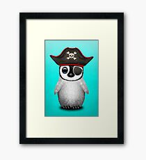 Cute Baby Penguin Pirate Framed Print