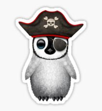 Cute Baby Penguin Pirate Sticker