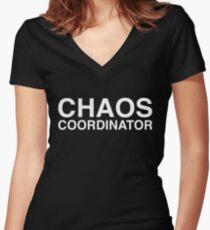 Chaos Coordinator Women's Fitted V-Neck T-Shirt