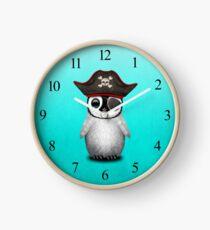 Cute Baby Penguin Pirate Clock
