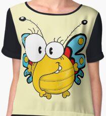 Cartoon butterfly Chiffon Top