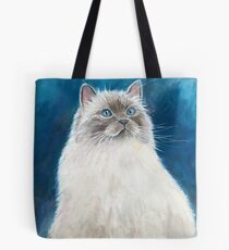 """Blue the Cat: From Author Linda Rielly's """"Cat Lady Mysteries"""" Tote Bag"""