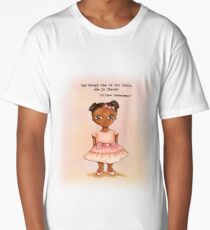 Little African princess in pink with quote Long T-Shirt