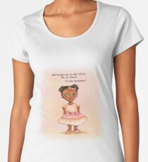 Little African princess in pink with quote Women's Premium T-Shirt