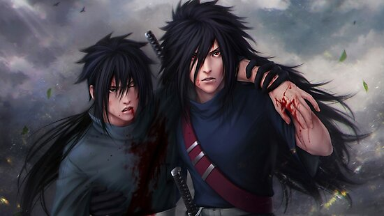 madara uchiha and izuna uchiha photographic prints by mouadhmeb