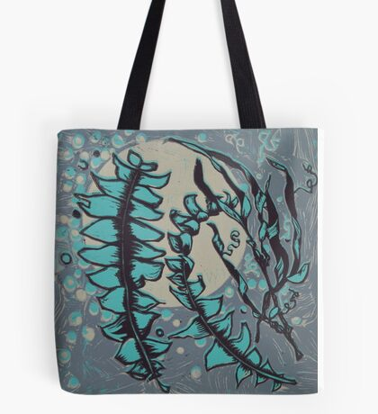 Linocut Banksia Leaves Tote Bag