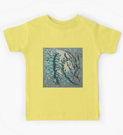 Linocut Banksia Leaves Kids Clothes