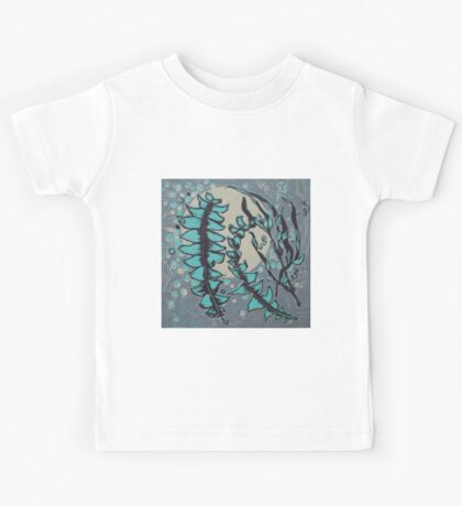 Linocut Banksia Leaves Kids Clothes