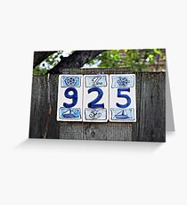 Nautical Numbers Greeting Card