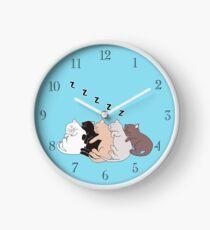 Sleeping Kitties Clock