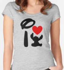 I Heart Stitch Women's Fitted Scoop T-Shirt