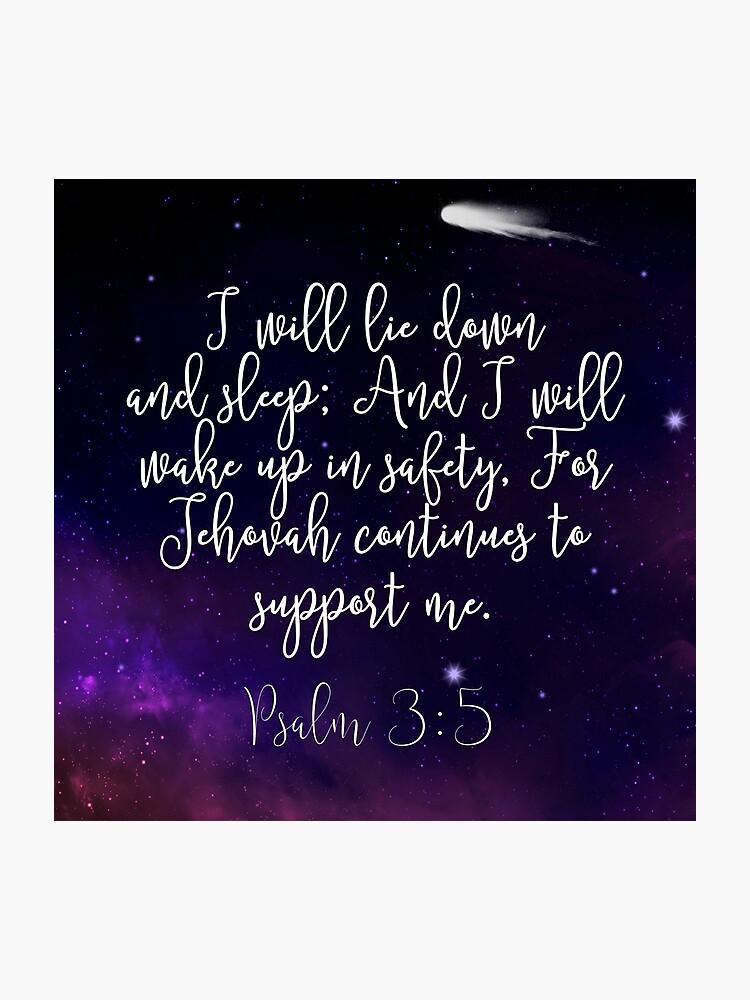 Psalm 3:5 | Photographic Print
