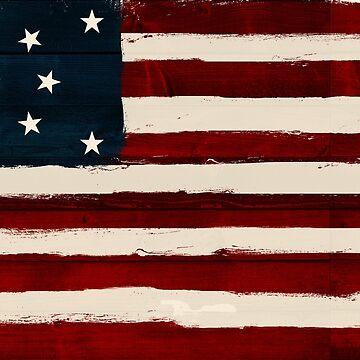 Damaged American Flag by Comhaltacht