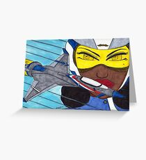 Lady Racer Greeting Card