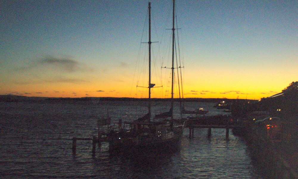 docked at Strahan amidst the splendour of the sunset by gaylene