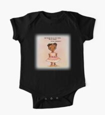 Little African princess in pink with quote One Piece - Short Sleeve