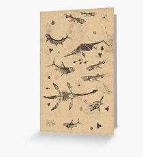 Creatures of the Western Interior Seaway Greeting Card