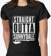 Straight Outta Sunnydale Womens Fitted T-Shirt