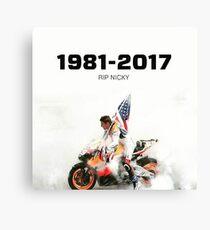 RIP nikcy hayden  Canvas Print
