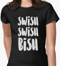 SWISH SWISH BISH (White) Women's Fitted T-Shirt