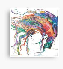 Rainbow hair  Canvas Print