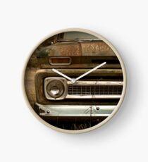 Abandoned Chevy C-10 pickup Clock