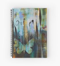 Bent World, Bright Wings Spiral Notebook