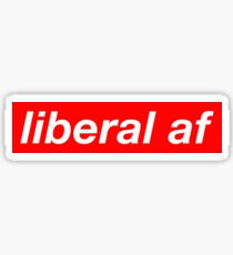 Pegatina Liberal AF Suprema