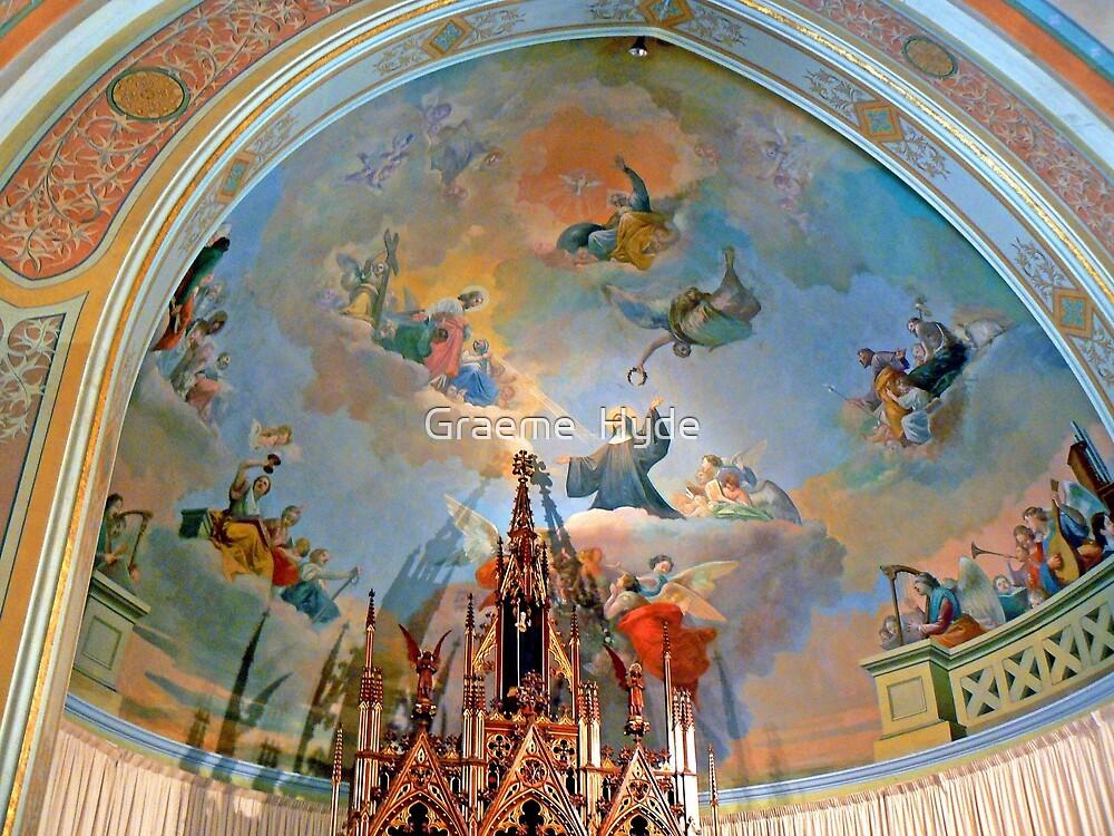 Art inside St Ildephonsus Chapel, New Norcia  by Graeme  Hyde