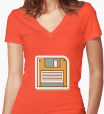 Vintage Storage System Women's Fitted V-Neck T-Shirt
