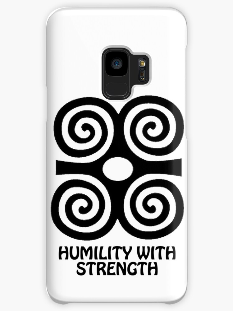 T Shirt Adinkra Symbol Humility With Strength Cases Skins For