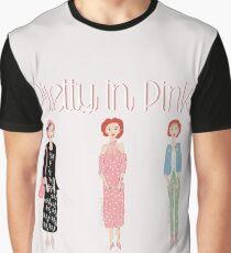 Hübsch im rosa Trio Grafik T-Shirt