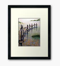 Old Bogue Sound Pier Framed Print