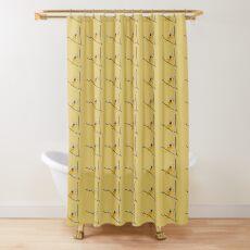 Female Baltimore Oriole Nest Building Shower Curtain