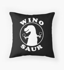 Winosaur Throw Pillow