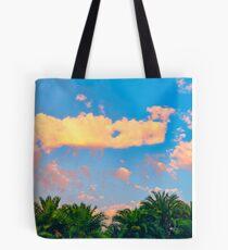 Tropical palm trees sunrise Tote Bag