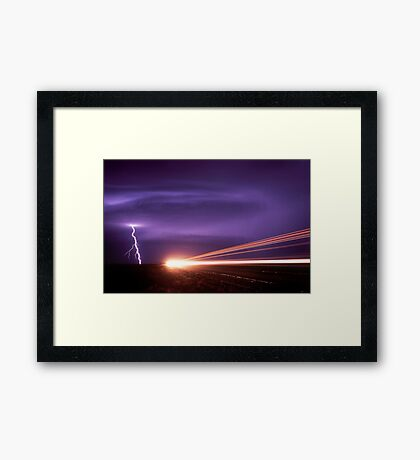 out of danger ! Framed Print