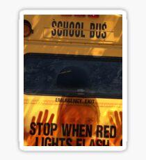 The Creepy School Bus Sticker