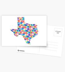 Texas Geometric Colorful Triangles Hipster Texas Postcards
