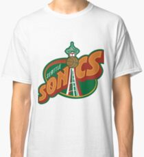 Seattle Supersonics Throwback Tee Classic T-Shirt